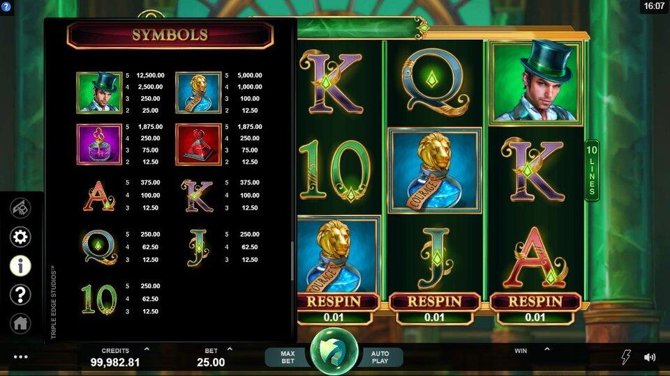 Book of Oz Slot Game