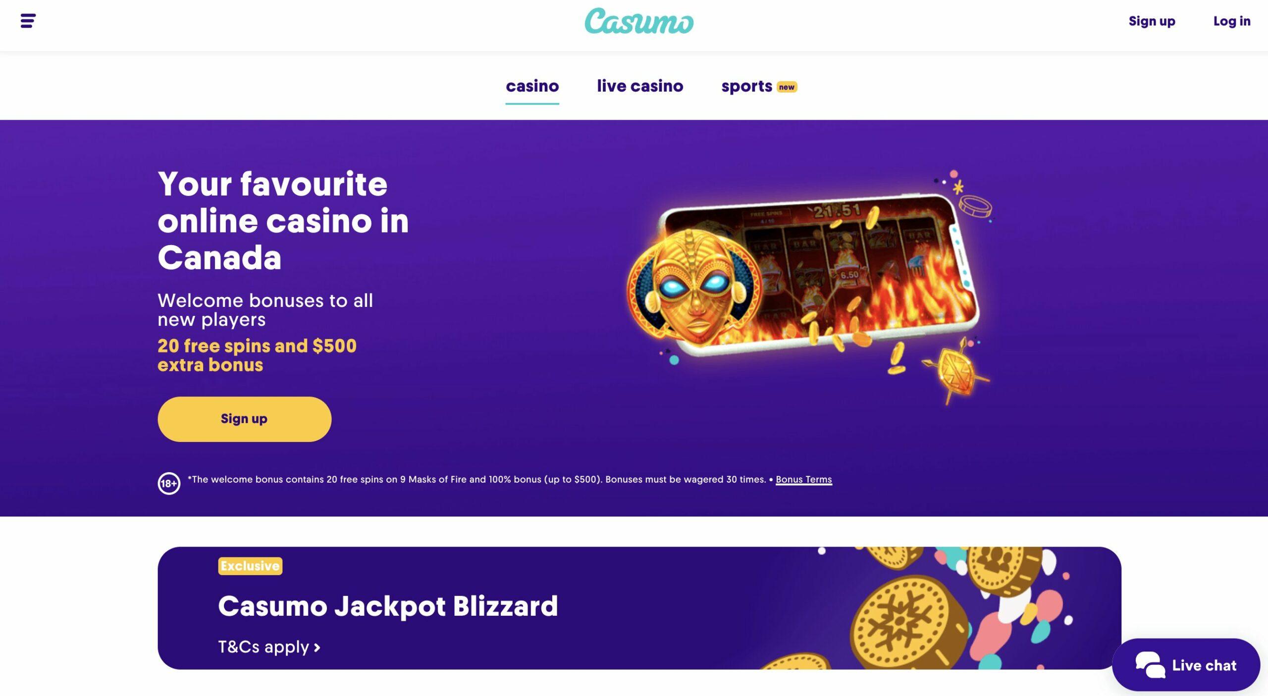 Casumo Casino Canada Online