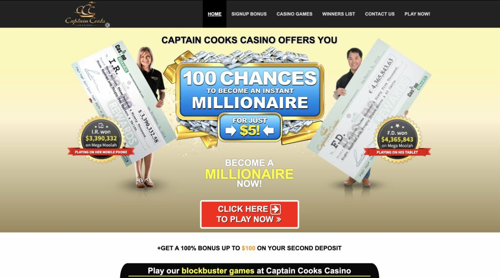 Captain Cooks Casino Site